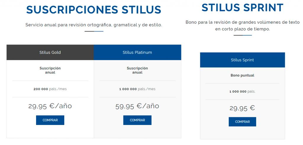Stilus precios