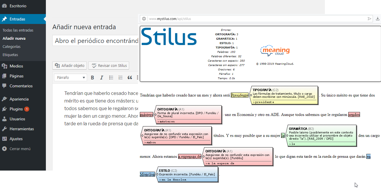 stilus wordpress