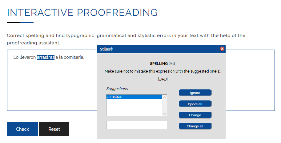 Online interactive proofreading
