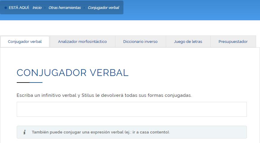 Herramientas lingüísticas online